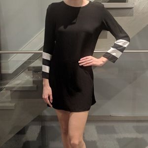 Zara Black and White Striped dress
